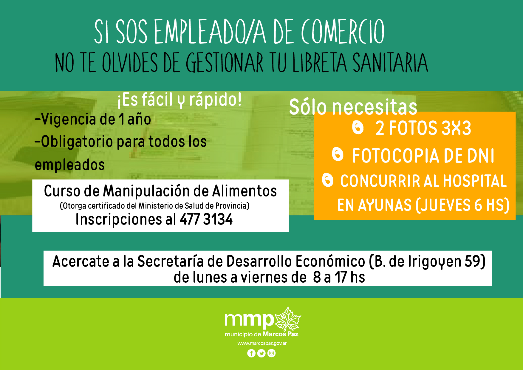 Trámites y servicios - Municipio de Marcos Paz