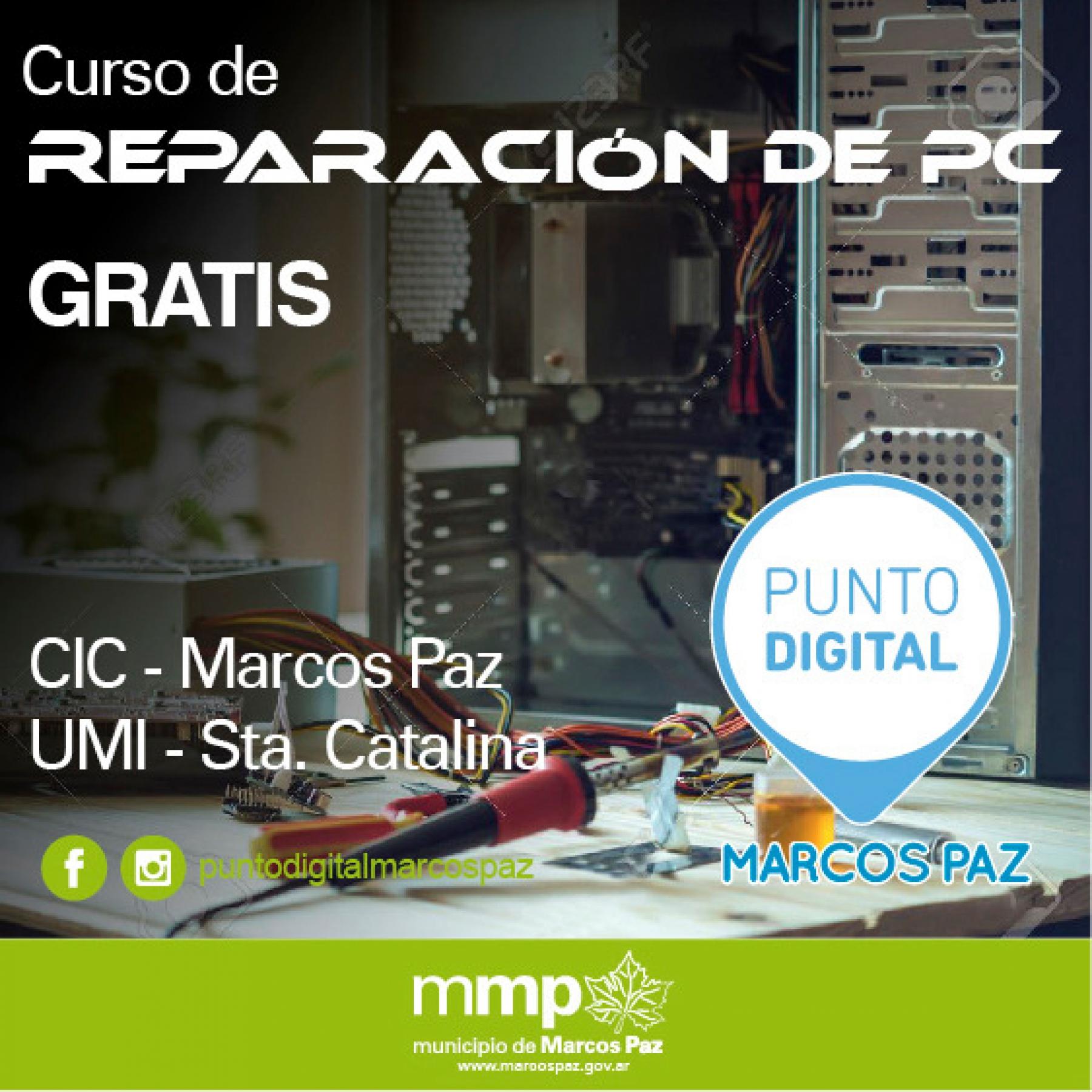 Inscripción para el Curso de Reparación de PC - Municipio de Marcos Paz